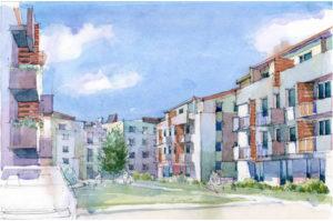 Ескіз житлового кварталу