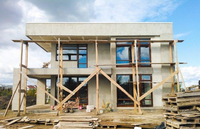 Сучасний будинок в Сокільниках. Будівництво IV (липень-вересень 2013)