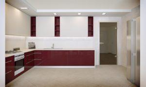 Візуалізація приміщення кухні після принципового погодження з замовником концепції на рівні ескізів.