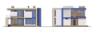 Варіант кольорового рішення фасадів