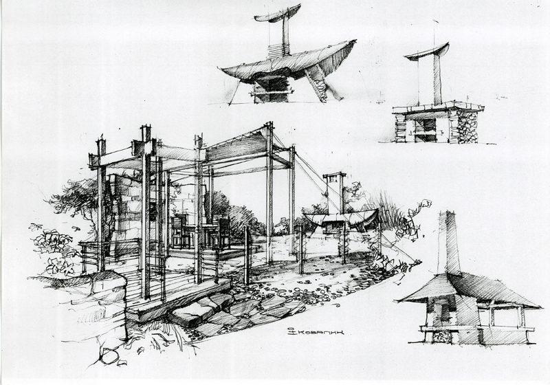 Ландшафтна архітектура. Ескізи.