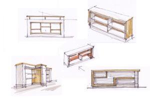Варіант рішення парапету на сходовій клітці у вигляді меблевого елементу.