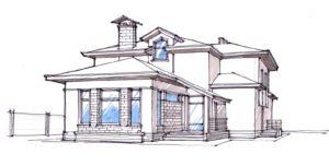 Ескіз північно-західного фасаду